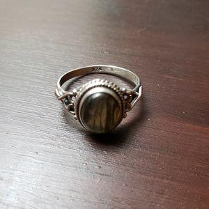 Genuine Silver and Labradorite Ring